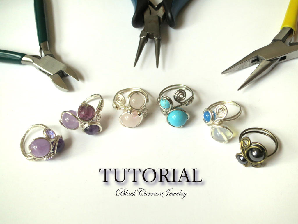 Tutorial - Wire Ring with 2,3,4 Beads - ETSY by blackcurrantjewelry ...