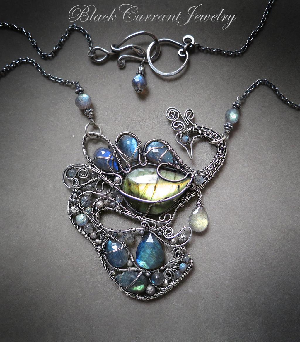 Bird of paradise labradorite dark silver by blackcurrantjewelry on blackcurrantjewelry bird of paradise labradorite dark silver by blackcurrantjewelry aloadofball Images
