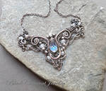 Small Celtic Necklace Sterling Siver Crystals
