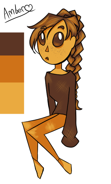 Amber 3 color challange by Iamtheturtleartist