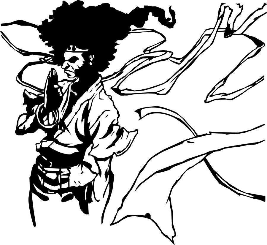Vector afro samurai by Nekoow on DeviantArt