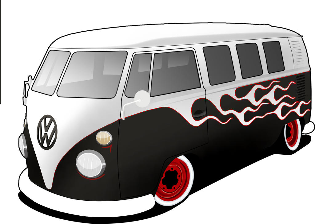 vw bus split draw by gseb90