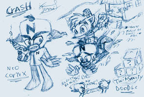 Cortex-Crash -crash twinsanity doodle sketch