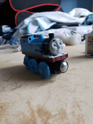 My custom wooden railway thomas  by supertoad129