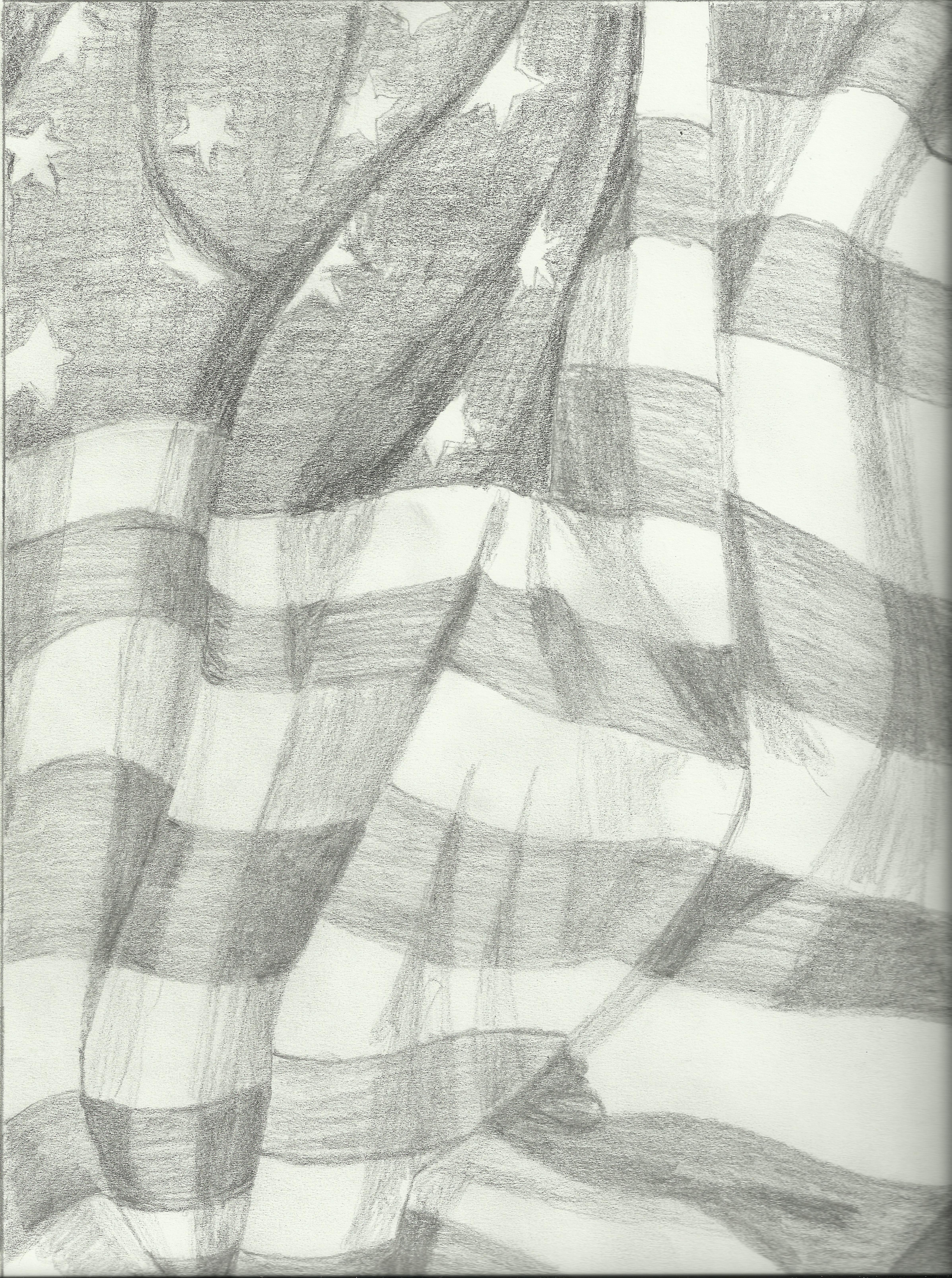 The American Flag Drawing