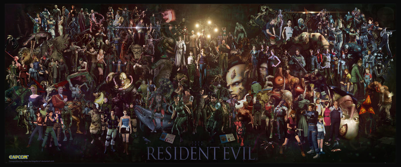 Resident Evil Saga by marblegallery7