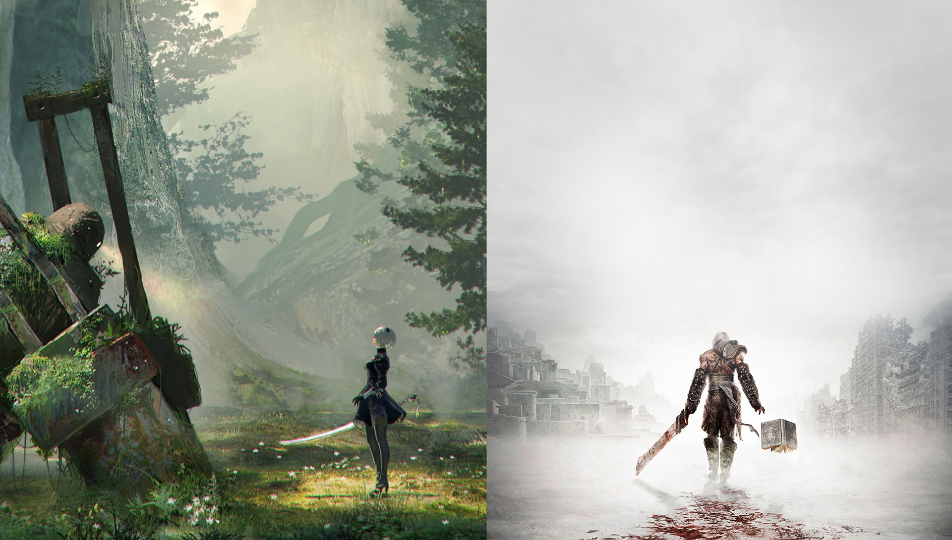 Nier Automata Wallpapers Or Desktop Backgrounds: NieR (Wallpaper) By Marblegallery7 On