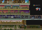 Final Fight 2 Backgrounds (SNES)