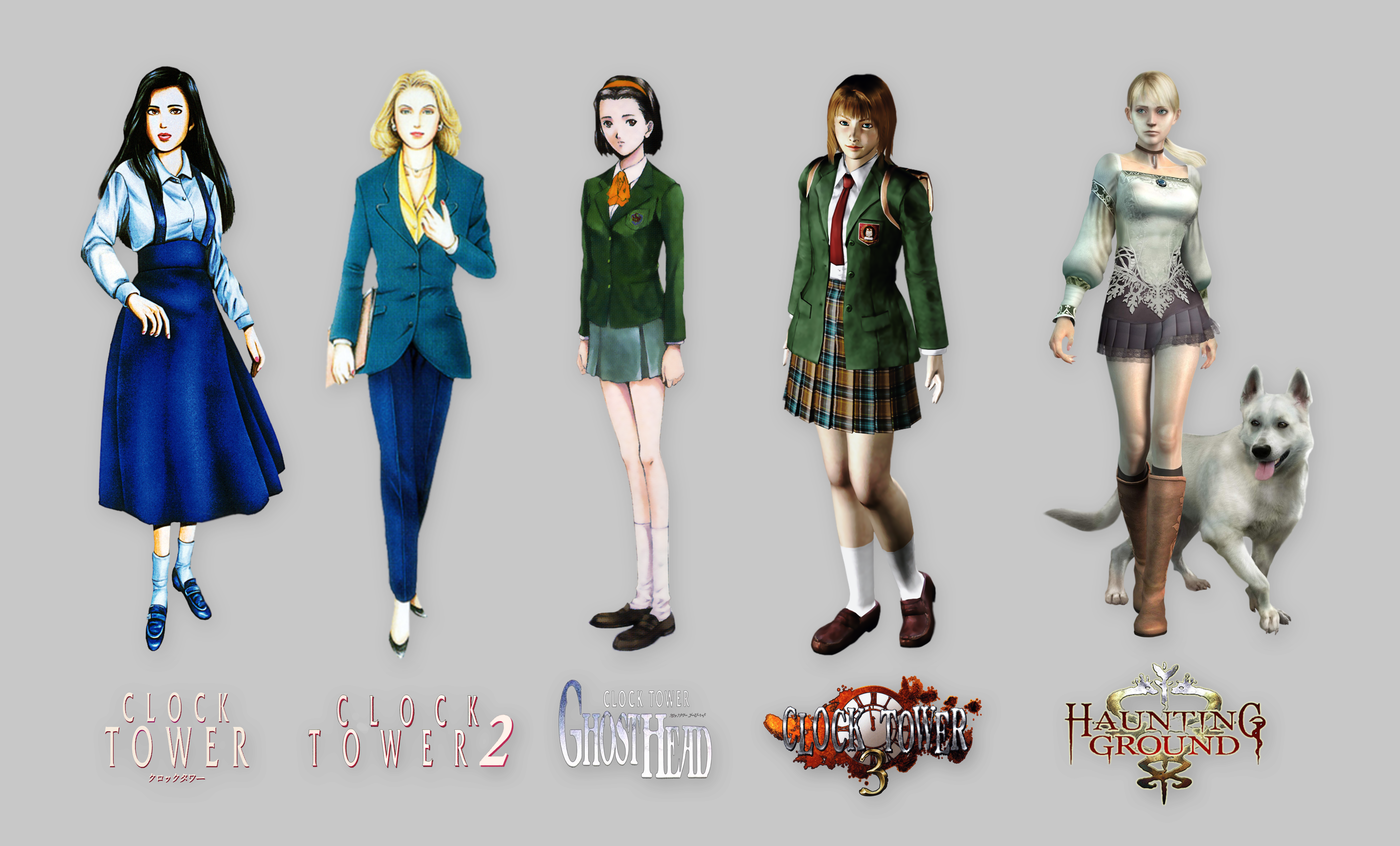 All Clock Tower Main Characters by marblegallery7