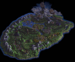 Gallowmere Map (10K AI Enhanced MediEvil)