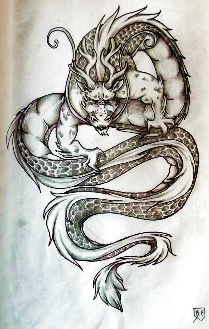 Dragon tattoo by little hello die on deviantart for Little dragon tattoo