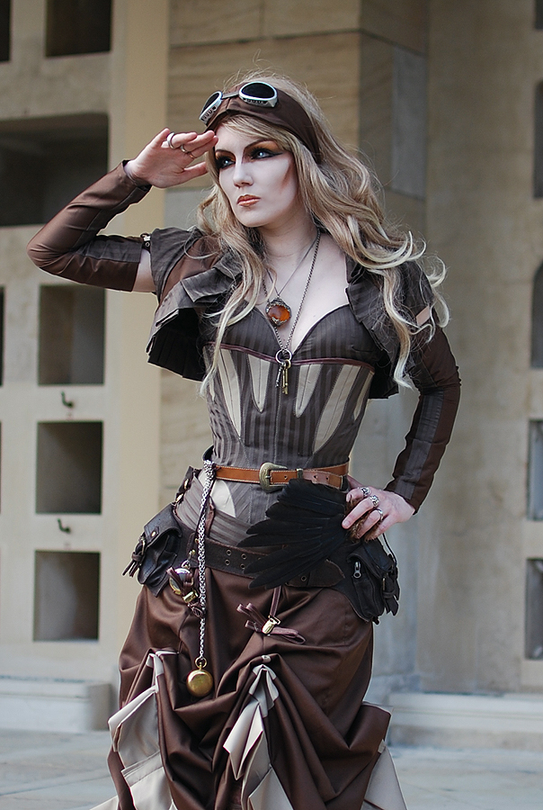Steampunk treasure hunter by RoboticDoll