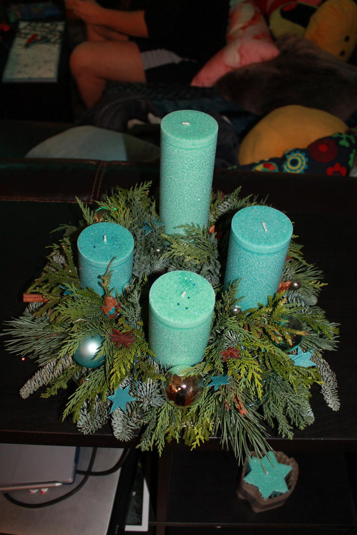 Advent wreath in blue by dark-columbia