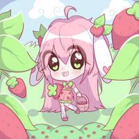 strawberry hunting! by bakamilk