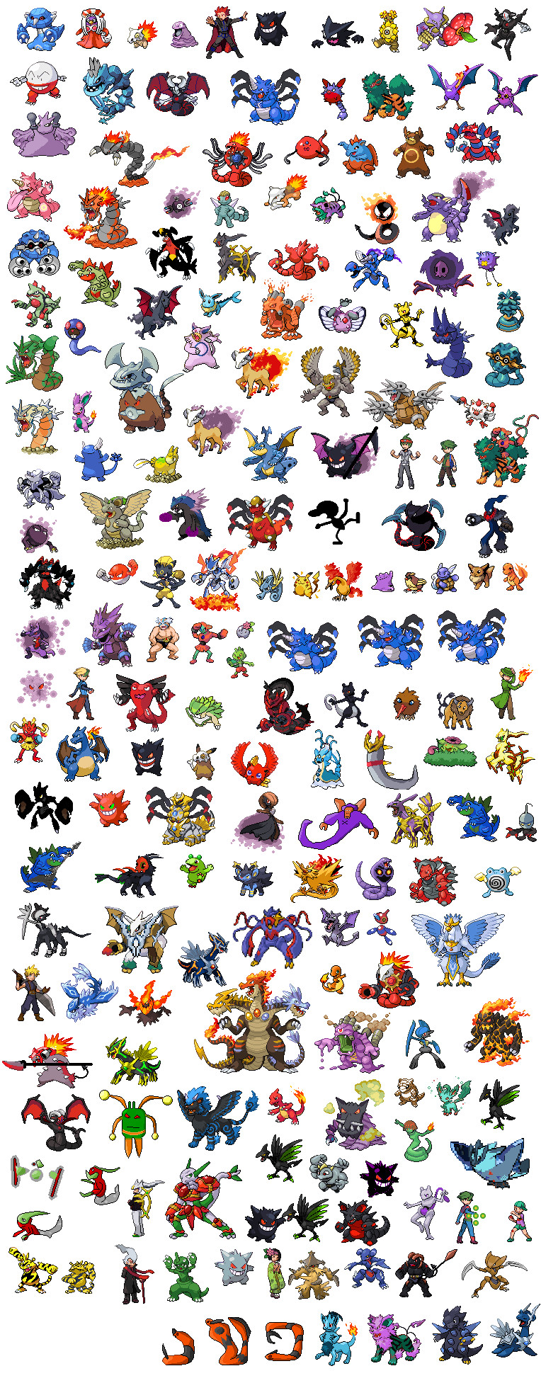 All my sprites by Evilzombie400