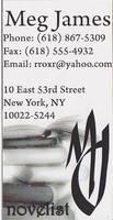 Novelist Business Card VI