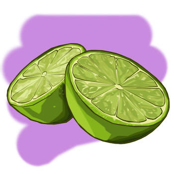 Citrus Study - Lime by floweringgarlic