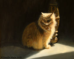 A Portrait of a Cat by Camille-Marie