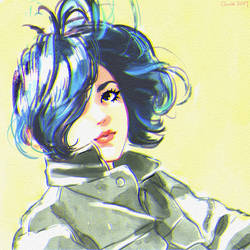 bluehair by Camille-Marie