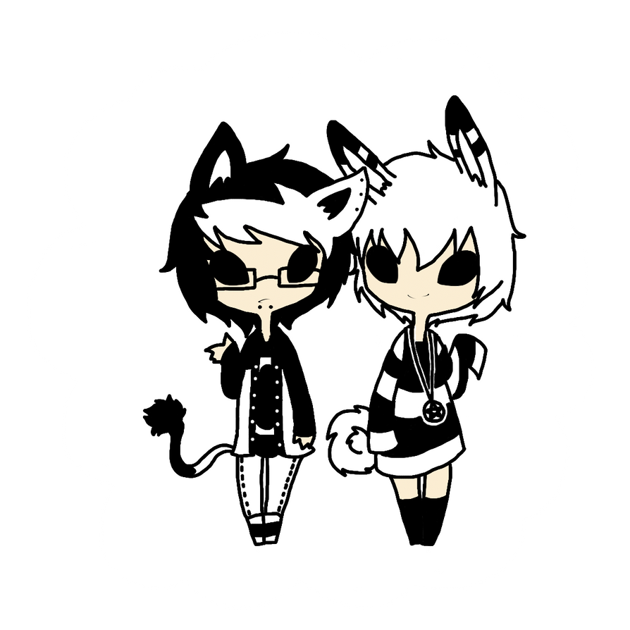 Mitten Black And White Black and white adopts