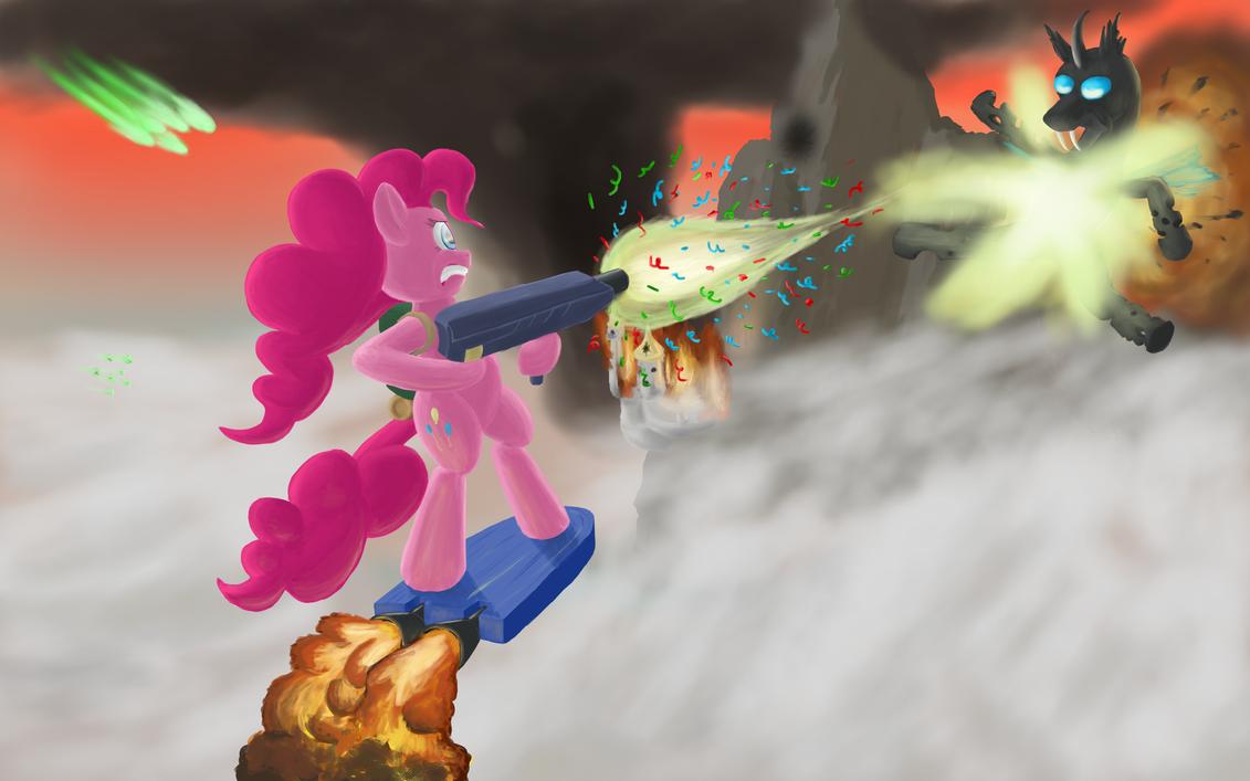 Pinkie on sky patrol duty by Shveyk