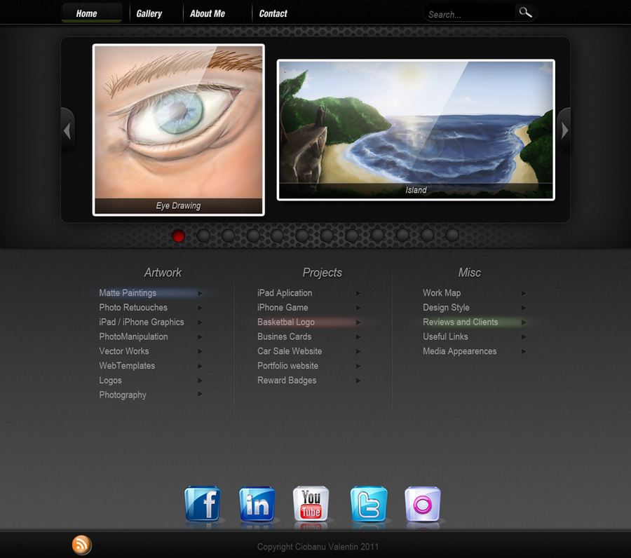Portfolio Site Examples: Portfolio Website Template By Maxxxy On DeviantArt