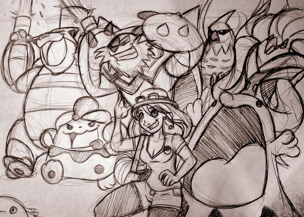 My Pokemon Team: Sketch by Chansey123