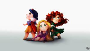 Disney Princess Trio by Chansey123