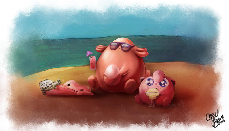 Besties on the Beach by Chansey123