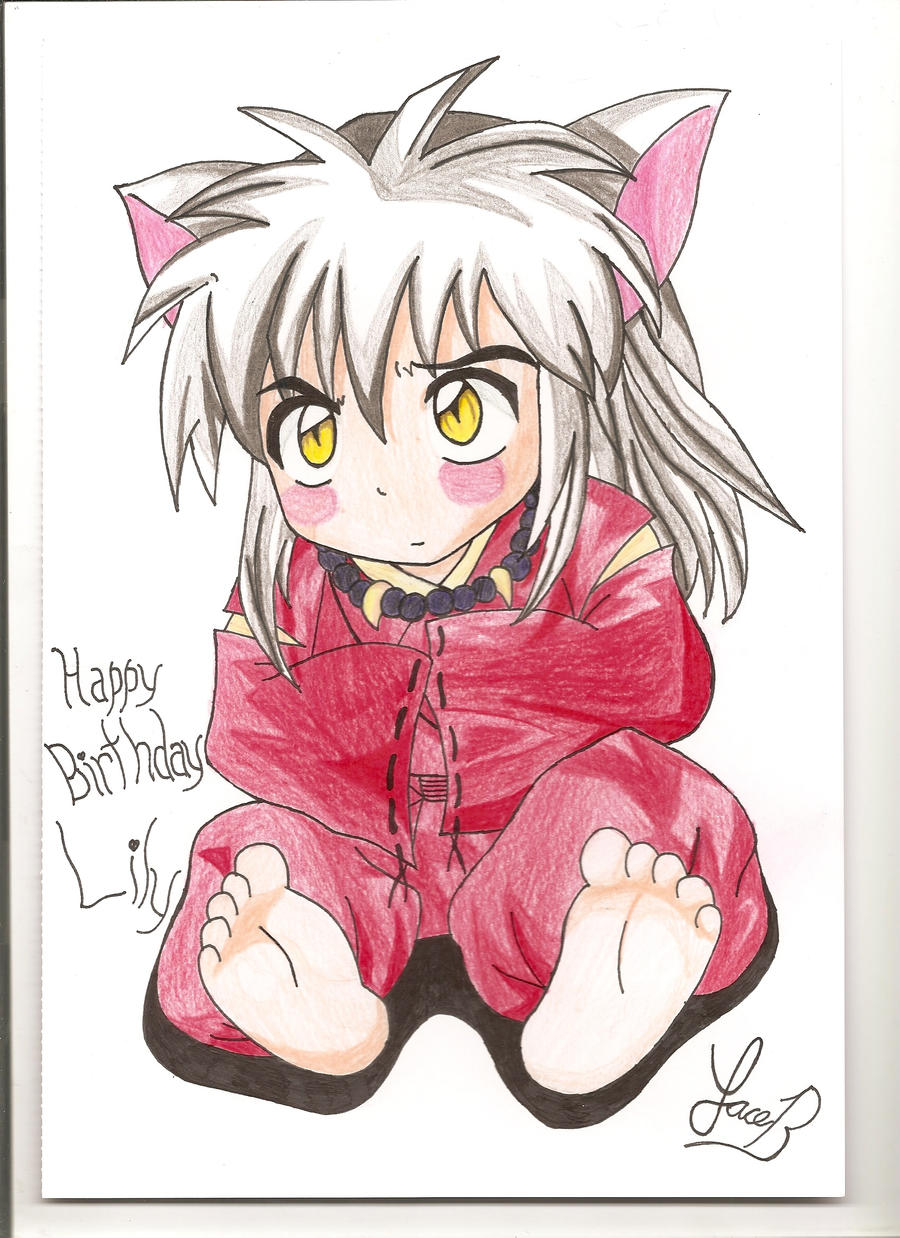 Cute Inuyasha Colored By Sylverfoxx