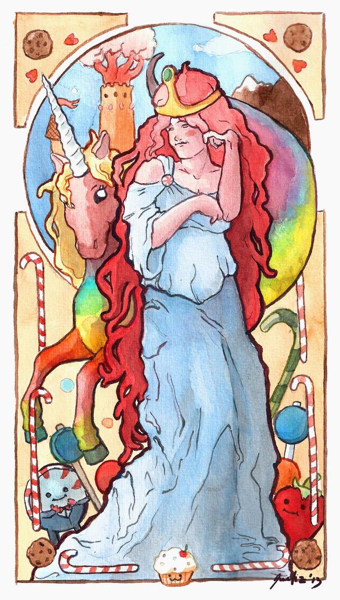 Bubblegum Princess. Art Nouveau by saetiz