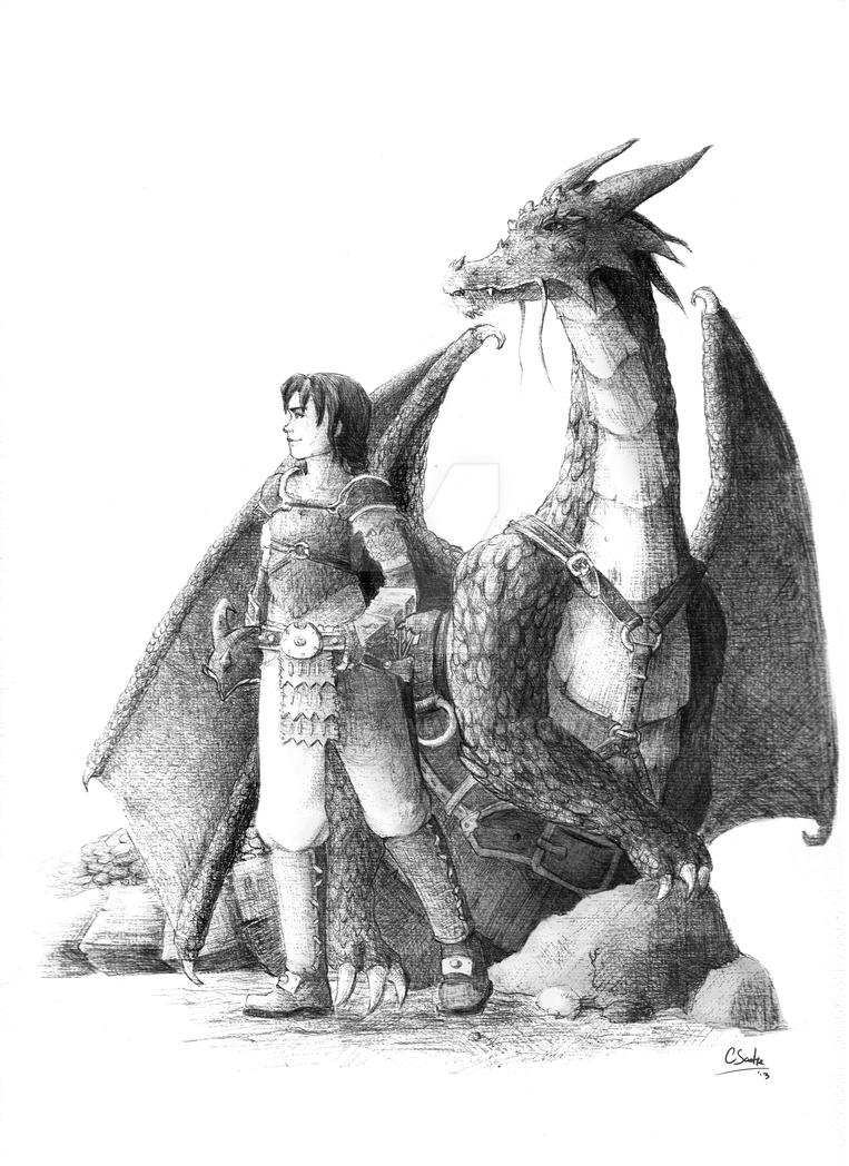 Dragon rider! by saetiz