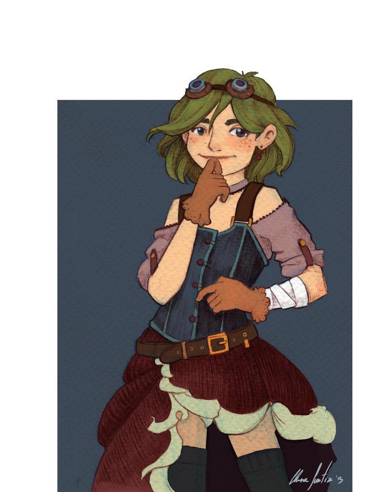 Steampunk Girl by saetiz