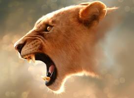 Procreate Lioness by JamesCuda