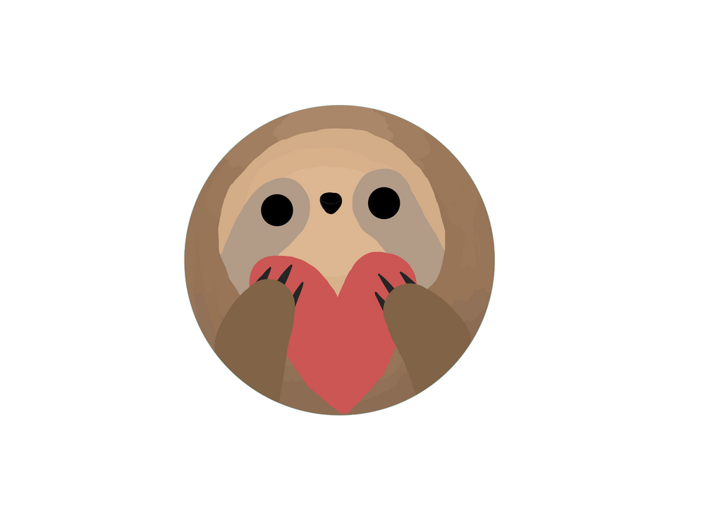 Sloth Heart Emoji by CrepeScape on DeviantArt