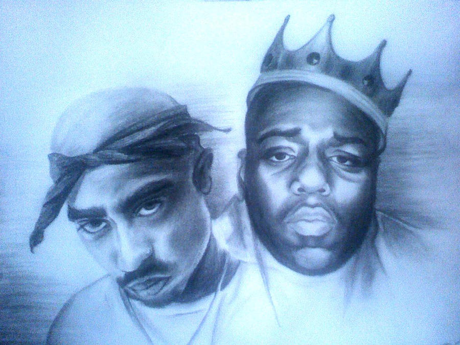 Tupac and Notorious BIG by milkakuuuh on DeviantArt