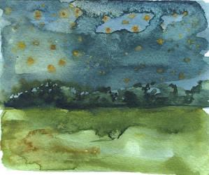 starry night sketch by Jelena-Misljenovic