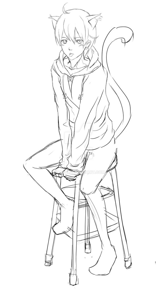 Anime Cat Boy Wip By Naisei On Deviantart