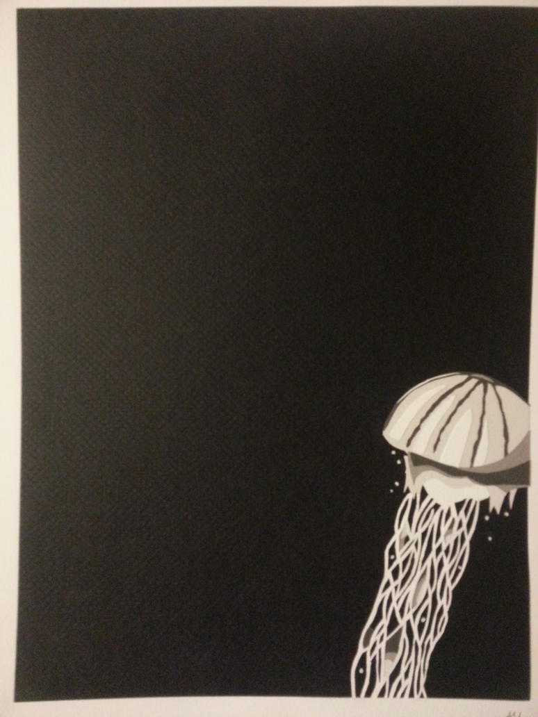 Jellyfish in paper by xoalley2013xo