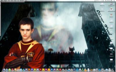 Oliver Wood Desktop by Zarine-Aybara
