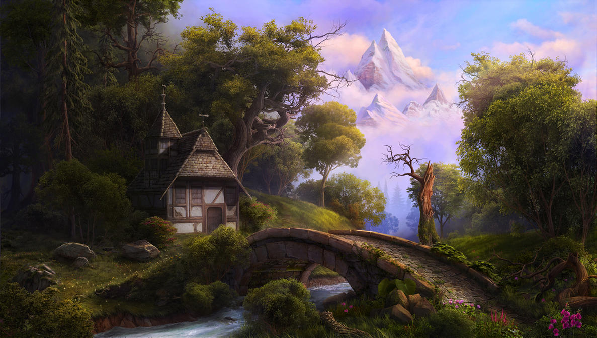 fairytale landscape by...