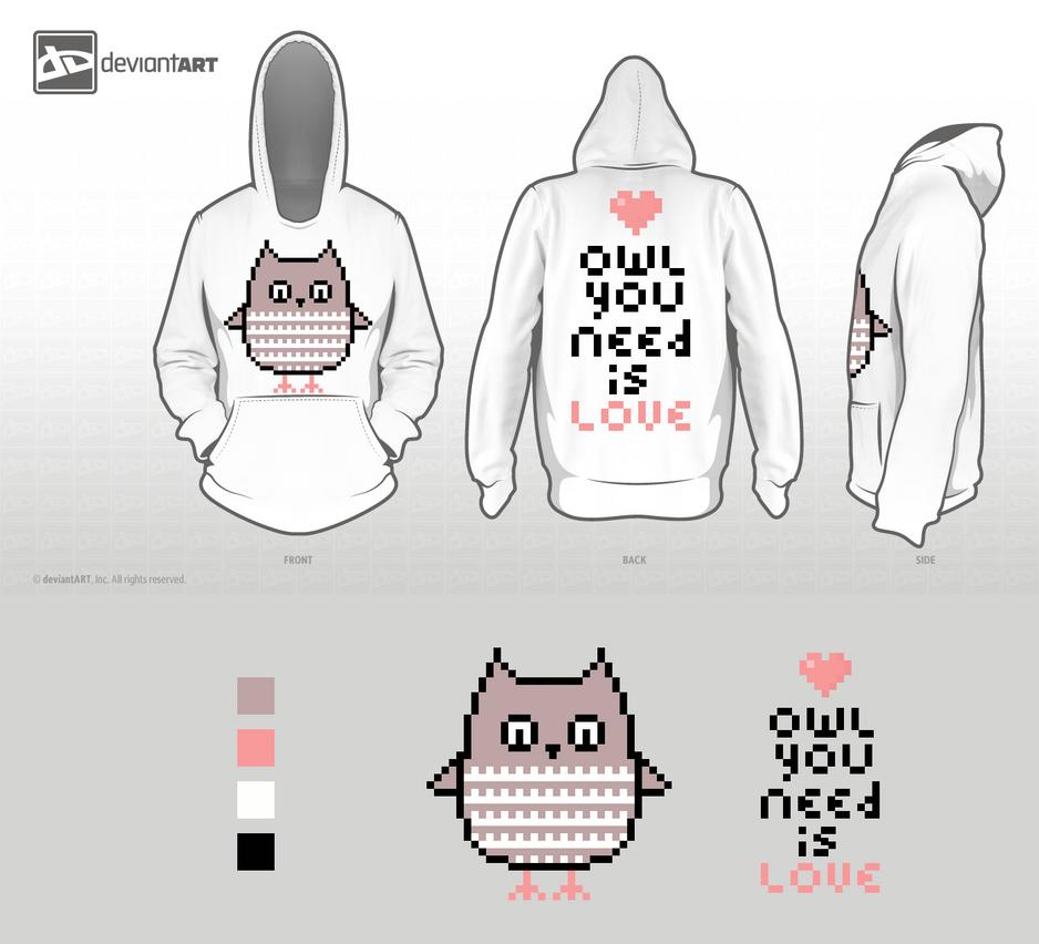 Owl you need is love Hoodie by xxxoneechanxxx
