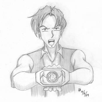MMPR Anime Style - Billy by mayorlight