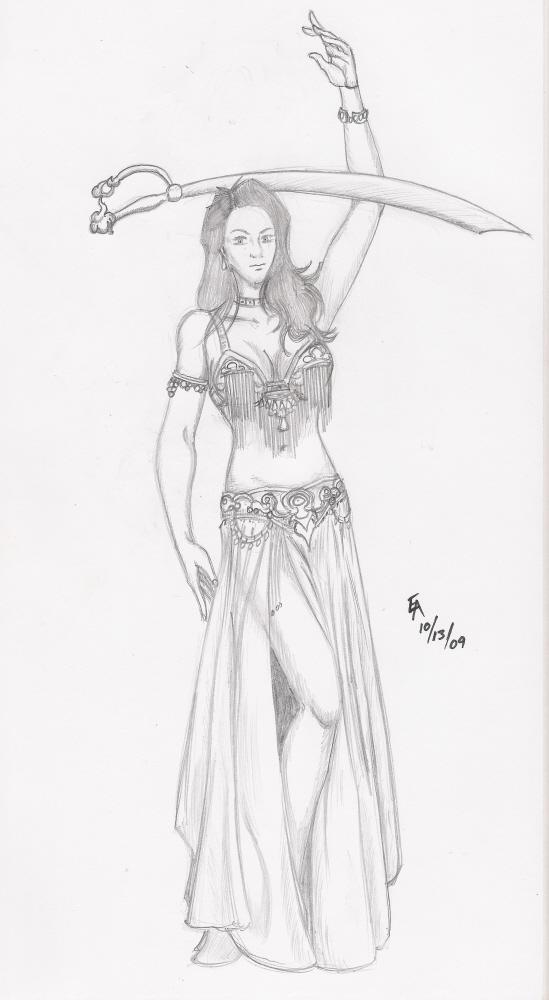 Life Drawing - Shebah by mayorlight