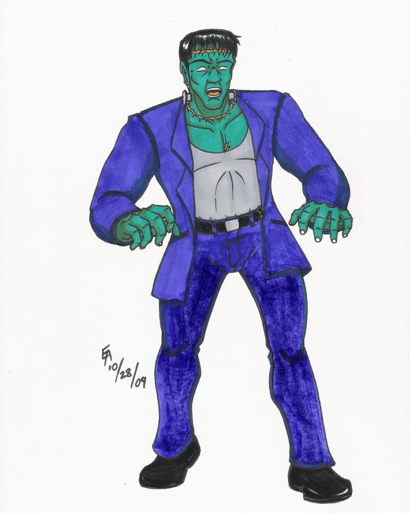 Halloween Icon Frankenstein by mayorlight