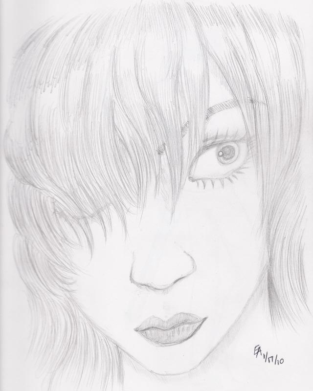 Life drawing - Kaya portrait by mayorlight