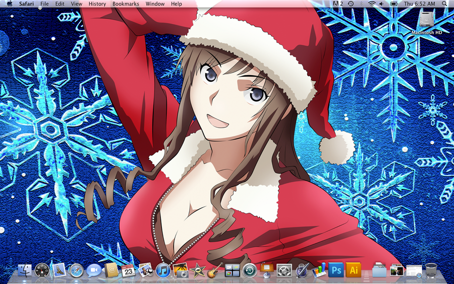 Haruka Ms Santa desktop by mayorlight