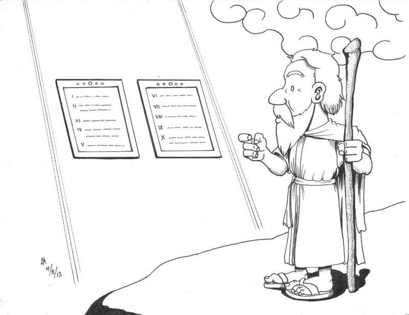 God gives Moses an upgrade by mayorlight