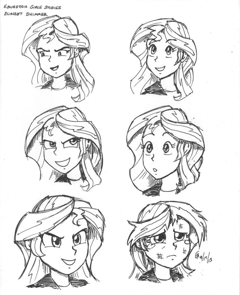 Equestria Girls studies - Sunset Shimmer by mayorlight on ...