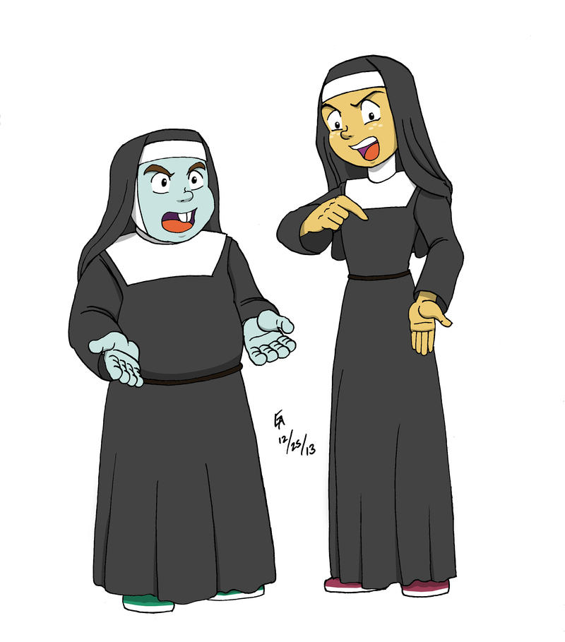 Snips N Snails - Nuns on the Run by mayorlight